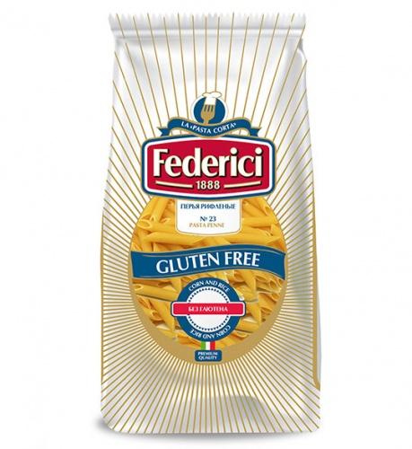 23 Перья рифленые макаронные изделия безглютеновые 400г*12 Federici